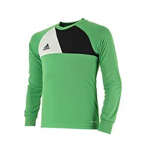 Camiseta portero niño adidas Assita 17 - Camiseta de portero infantil de manga larga acolchada adidas - Verde - frontal