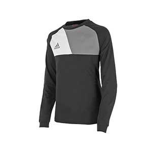 Camiseta portero niño adidas Assita 17 - Camiseta de portero infantil de manga larga acolchada adidas - Negro - frontal