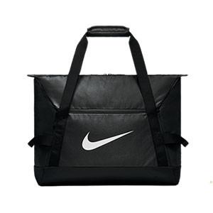 Bolsa de deporte con zapatillero Nike Academy - Bolsa de entrenamiento Nike (48 x 30 x 38) cm - negra - frontal