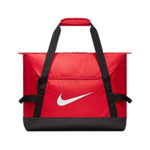 Bolsa de deporte con zapatillero Nike Academy - Bolsa de entrenamiento Nike (48 x 30 x 38) cm - roja - Frontal