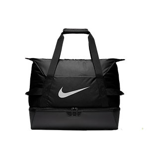 Bolsa de deporte con zapatillero Nike Academy - Bolsa de entrenamiento Nike (51 x 33 x 41) cm - negra - frontal