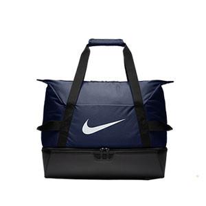 Bolsa de deporte con zapatillero Nike Academy - Bolsa de entrenamiento Nike (51 x 33 x 41) cm - azul marino - frontal