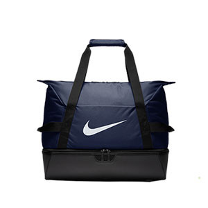 Bolsa de deporte con zapatillero Nike Academy grande - Bolsa de entrenamiento Nike (51 x 33 x 41) cm - azul marino - frontal