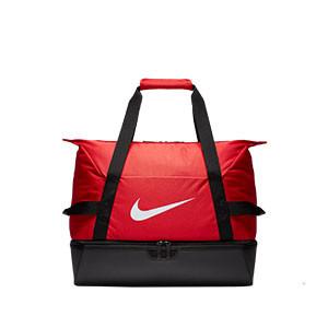 Bolsa de deporte con zapatillero Nike Academy - Bolsa de entrenamiento Nike (51 x 33 x 41) cm - roja - frontal