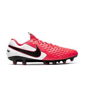 Nike Tiempo Legend 8 Elite AG-PRO - Botas de fútbol de piel de canguro Nike AG-PRO para césped artificial - rosas y blancas - pie derecho