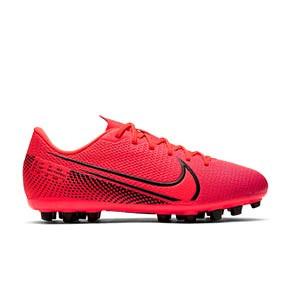 Nike Mercurial Vapor 13 Academy AG Jr - Botas de fútbol infantiles Nike AG para césped artificial - rosas - pie derecho