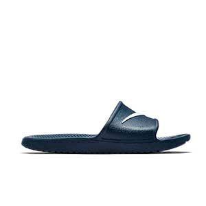 Chanclas Nike niño Kawa Shower - Chanclas infantiles de baño Nike - azul marino - pie derecho