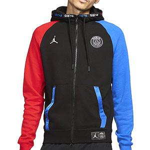 Chaqueta Nike PSG x Jordan Fleece - Chaqueta con capucha Nike x Jordan del París Saint Germain 2019 2020 - negra - frontal