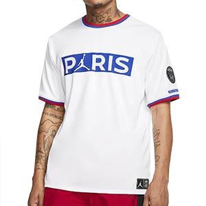 Camiseta Nike PSG x Jordan - Camiseta Nike x Jordan del París Saint Germain 2019 2020 - blanca - frontal