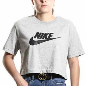Camiseta Nike Sportswear Essential mujer - Camiseta de algodón de manga corta para mujer Nike - gris - frontal