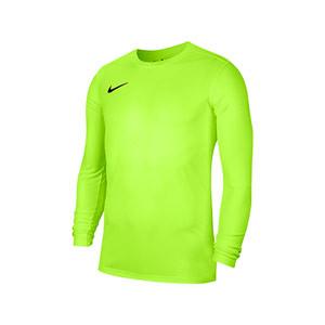 Camiseta Nike Park 7 niño - Camiseta de manga larga infantil Nike - amarilla flúor