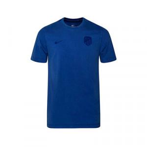 Camiseta algodón Nike Atlético Madrid Retro - Camiseta de algodón Nike del Atlético de Madrid 2019 2020 - azul - frontal