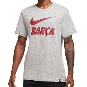 Camiseta algodón Nike Barcelona Ground - Camiseta de algodón Nike del FC Barcelona - gris