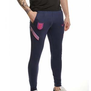 Pantalón Nike Inglaterra entreno 2021 Strike - Pantalón largo entreno Nike selección inglesa 2021 - azul marino - frontal