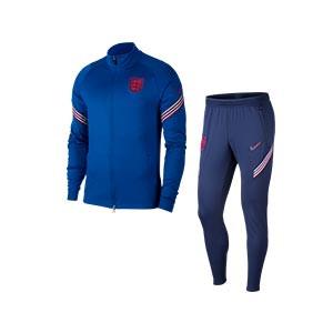 Chándal Nike Inglaterra 2020 2021 Strike - Chándal de paseo Nike de la selección inglesa 2020 2021 - azul - frontal