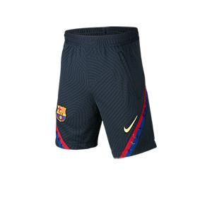 Short Nike Barcelona niño entreno 19 2020 Strike - Pantalón corto infantil de entrenamiento Nike Strike FC Barcelona 2019 2020 - azul marino  - frontal
