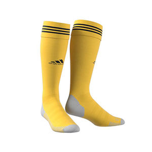 Medias adidas Adisock 18 - Medias de fútbol adidas - amarillas - frontal