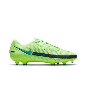 Nike Phantom GT Academy FG/MG - Botas de fútbol Nike FG/MG para césped artificial - verdes lima - pie derecho