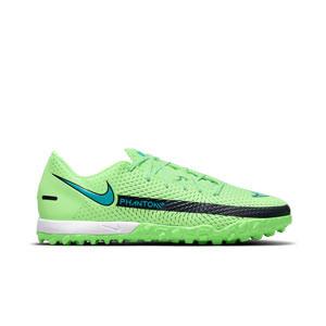 Nike Phantom GT Academy TF - Zapatillas de fútbol multitaco Nike suela turf - verdes lima - pie derecho