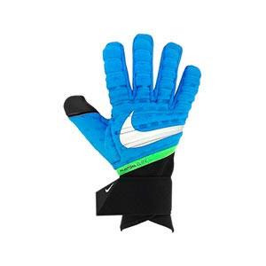 Nike GK Phantom Elite - Guantes de portero profesionales Nike corte negativo - azules - frontal derecho