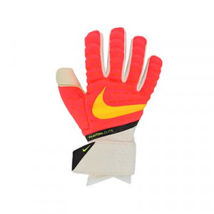 Nike GK Phantom Elite - Guantes de portero profesionales Nike corte negativo - rojos, amarillos