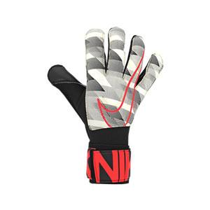Nike GK Grip3 - Guantes de portero Nike corte Grip 3 - blancos y negros - derecho
