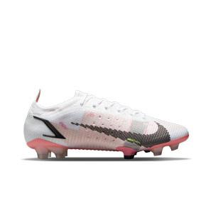 Nike Mercurial Vapor 14 Elite FG - Botas de fútbol Nike FG para césped natural o artificial de última generación - blancas y negras