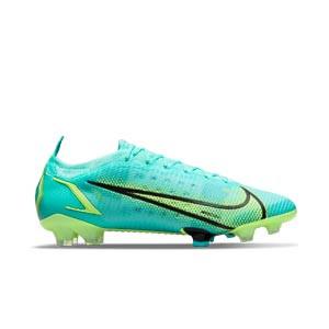 Nike Mercurial Vapor 14 Elite FG - Botas de fútbol Nike FG para césped natural o artificial de última generación - azules turquesa - pie derecho