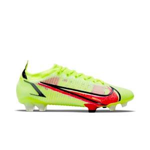 Nike Mercurial Vapor 14 Elite FG - Botas de fútbol Nike FG para césped natural o artificial de última generación - amarillas flúor, rojas