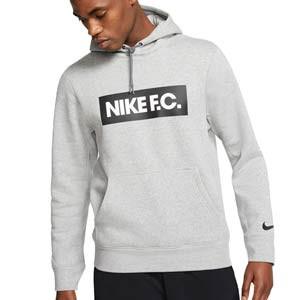 Sudadera Nike FC Essential Fleece Hoodie - Sudadera con capucha de calle Nike F.C. - gris