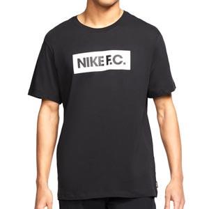 Camiseta Nike FC Essentials - Camiseta de algodón de manga corta Nike - negra