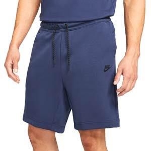 Short Nike Sportswear Tech Fleece - Pantalón corto de algodón Nike - azul marino - frontal