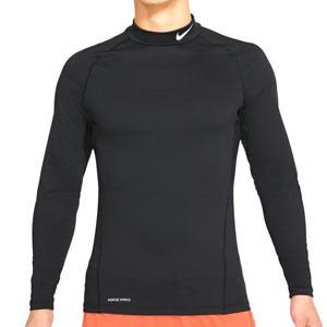 Camiseta compresiva Nike Pro Warm - Camiseta interior compresiva Nike - negra