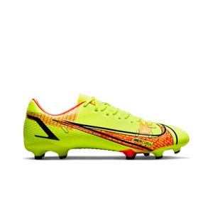 Nike Mercurial Vapor 14 Academy FG/MG - Botas de fútbol Nike FG/MG para césped artificial - amarillas flúor, rojas