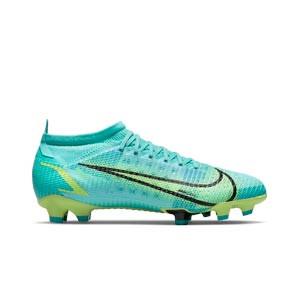 Nike Mercurial Vapor 14 Pro FG - Botas de fútbol Nike FG para césped natural o artificial de última generación - azules turquesa - pie derecho