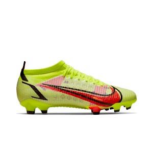 Nike Mercurial Vapor 14 Pro FG - Botas de fútbol Nike FG para césped natural o artificial de última generación - amarillas flúor, rojas
