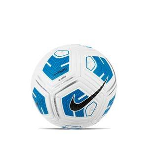 Balón Nike Strike Team 350g talla 4 - Balón de fútbol para niño en talla 4 con peso reducido - blanco y azul turquesa - frontal
