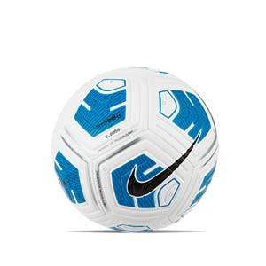Balón Nike Strike Team 350g talla 5 - Balón de fútbol para niño en talla 5 con peso reducido - blanco y azul turquesa - frontal
