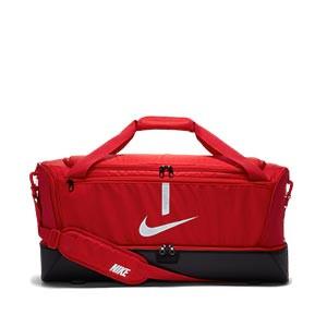 Bolsa de deporte Nike Academy Team grande con zapatillero - Bolsa de entrenamiento de fútbol con zapatillero Nike (63 x 30 x 30 cm) - roja