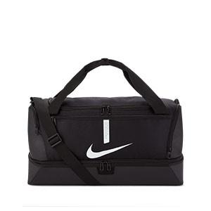 Bolsa de deporte Nike Academy Team mediana con zapatillero - Bolsa de entrenamiento de fútbol con zapatillero Nike (53 x 30 x 28 cm) - negra