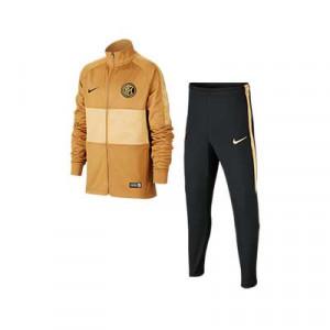 Chándal Nike Inter niño 2019 2020 Strike - Chándal Nike infantil del Inter de Milán 2019 2020 - dorado y negro - frontal