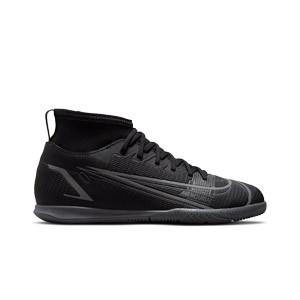 Nike Mercurial Jr Superfly 8 Club IC - Zapatillas fútbol sala infantiles con tobillera Nike suela lisa IC - negras