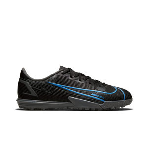 Nike Mercurial Jr Vapor 14 Academy TF - Zapatillas de fútbol multitaco infantiles Nike suela turf - negras