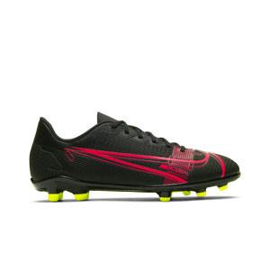 Nike Mercurial Jr Vapor 14 Club FG/MG - Botas de fútbol infantiles Nike FG/MG para césped artificial - negras - pie derecho