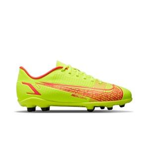 Nike Mercurial Jr Vapor 14 Club FG/MG - Botas de fútbol infantiles Nike FG/MG para césped artificial - amarillas flúor, rojas
