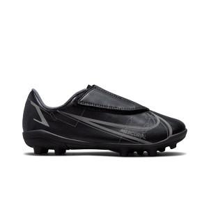 Nike Mercurial Jr Vapor 14 Club MG PS V - Botas de fútbol infantiles con velcro Nike MG para césped natural o artificial - negras