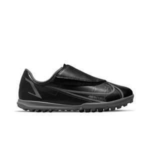 Nike Mercurial Jr Vapor 14 Club TF PS V - Zapatillas de fútbol multitaco infantiles con velcro Nike suela turf - negras