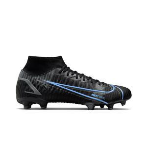 Nike Mercurial Superfly 8 Academy FG/MG - Botas de fútbol con tobillera Nike FG/MG para césped artificial - negras
