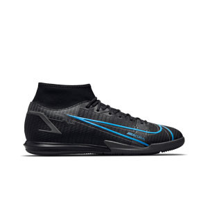 Nike Mercurial Superfly 8 Academy IC - Zapatillas de fútbol sala con tobillera Nike suela lisa IC - negras