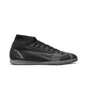 Nike Mercurial Superfly 8 Club IC - Zapatillas de fútbol sala con tobillera Nike suela lisa IC - negras